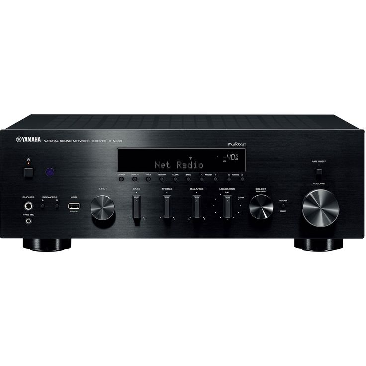 Yamaha - 2.0-Ch. Hi-Res A/V Home Theater Receiver - Black