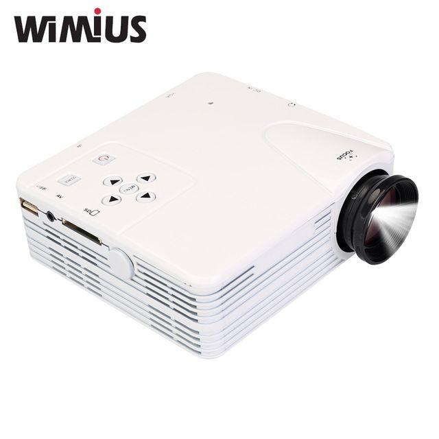 Wimius Portátil Mini LED LCD Proyector de Cine En Casa Soporte proyectores Full HD 1900X1080 Projetor Digital Para El Juego De Vídeo Reproductor de TV moviles
