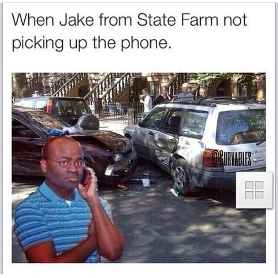 jake from state farm | Black Guy on the Phone | Know Your Meme