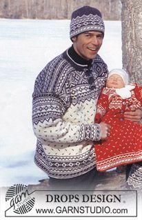 DROPS nordisk tröja i Karisma med mönster och luser. ~ DROPS Design