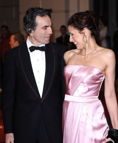 Daniel Day-Lewis and his wife Rebecca Miller actress and daughter of playwright the late Arthur Miller.
