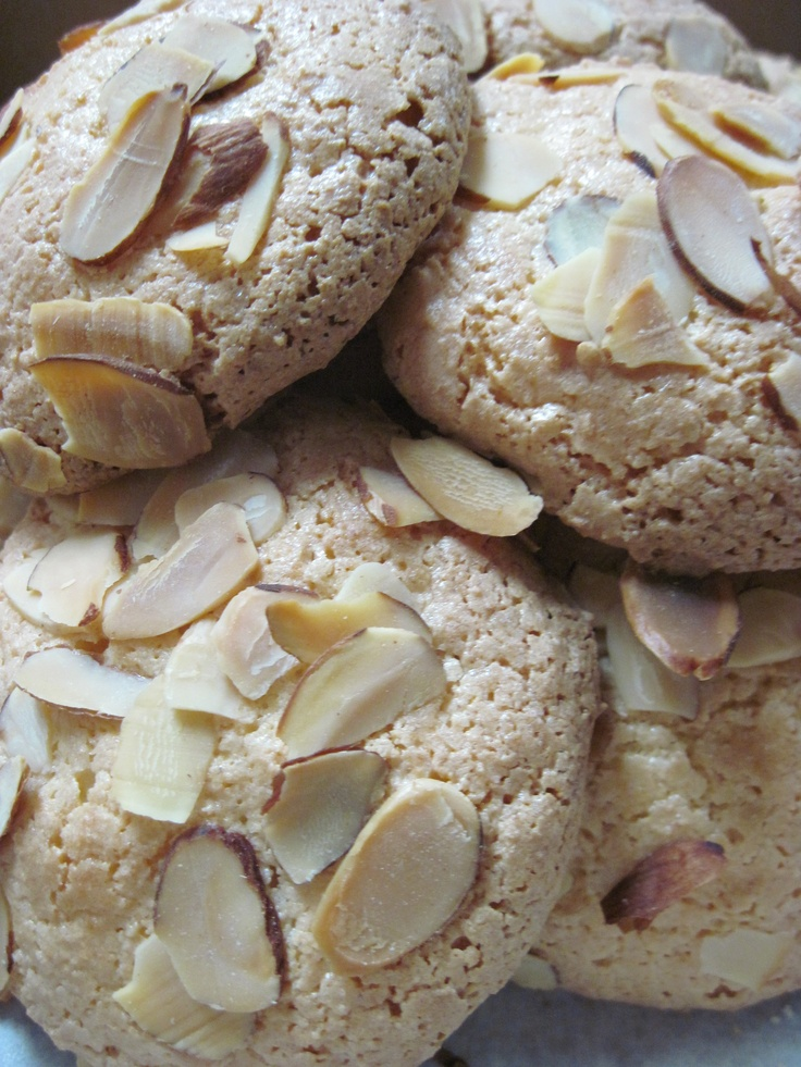 The BEST Almond Macaroons--I make these every Christmas.. delish.. easy and always the first to be eaten...