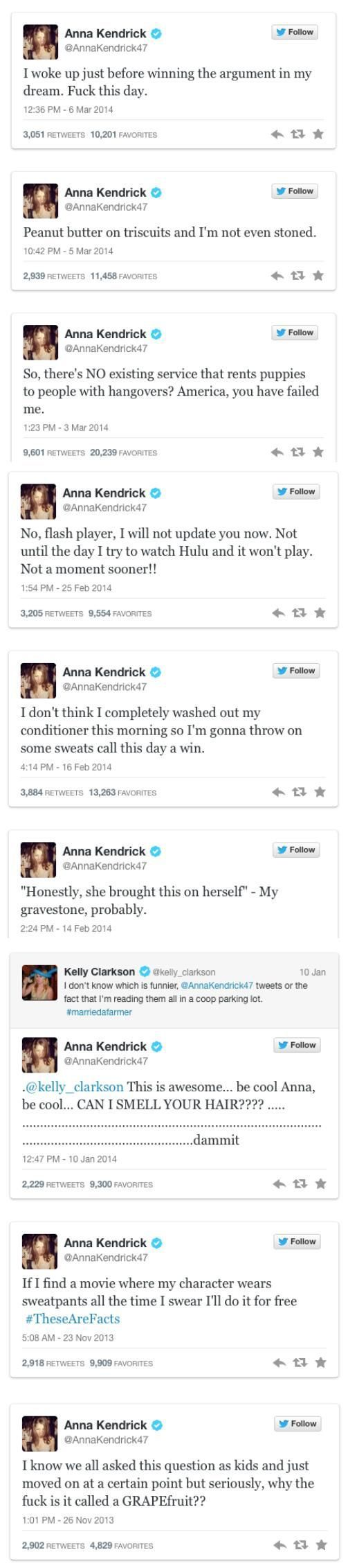 Anna Kendrick tweets the best shit ever