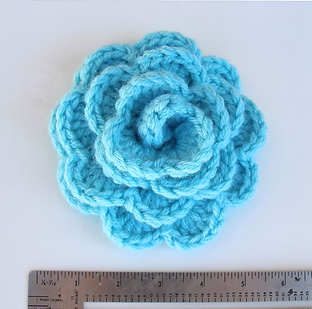Crocheted Chunky flower ~ really quick pattern medium flower and chunky yarn was just right size for my adult headband!