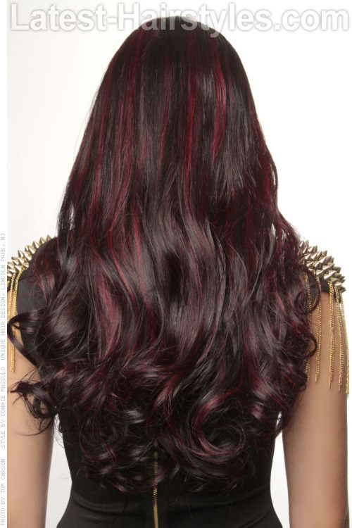 Fun Day And Night Hair Highlights red brunette mahogany. Too punky at my age? I don't know...