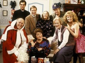Standing from left to right, Jeremy Gittins, David Griffin, Judy Cornwell, Geoffrey Hughes, and Mary Millar. Seated from left to right, Clive Swift, Patricia Routledge and Josephine Tewson. wikipedia.org