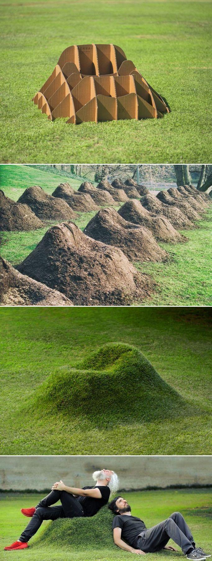Der TERRA Grassessel von Studio Nucleo ist ein Möbelstück aus biologischem Anbau, das