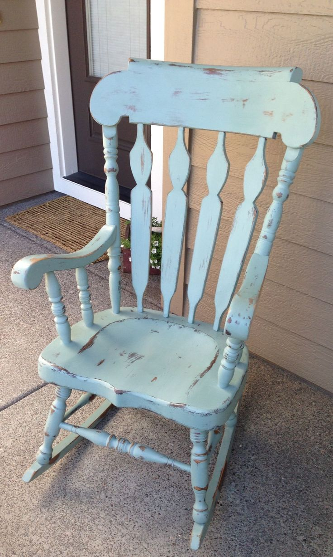 Antique nursery rocking chair - Shabby Chic Rocking Chair