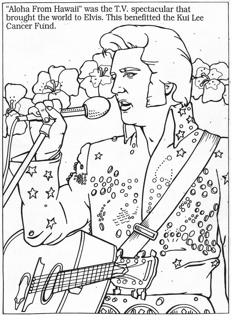 15 best Elvis coloring pages images on Pinterest Coloring