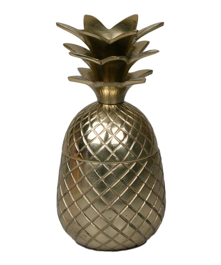 Matte Gold Pineapple Cup with Lid