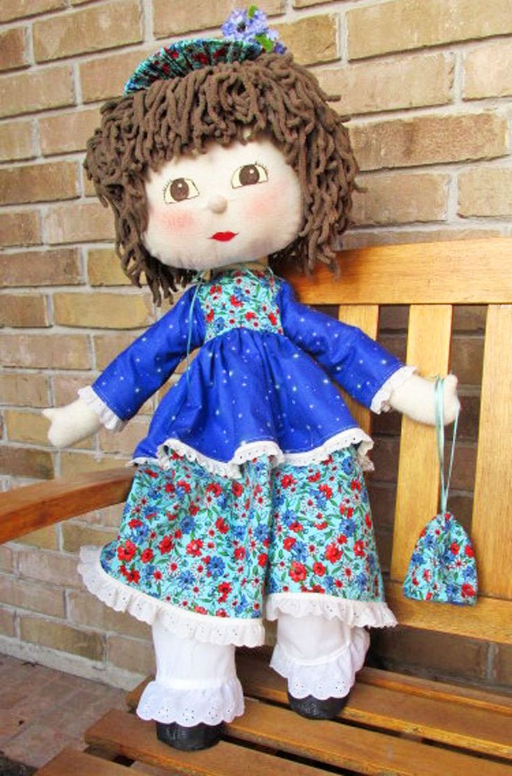 So excited to introduce my mom on the blog and show off her handmade dolls.