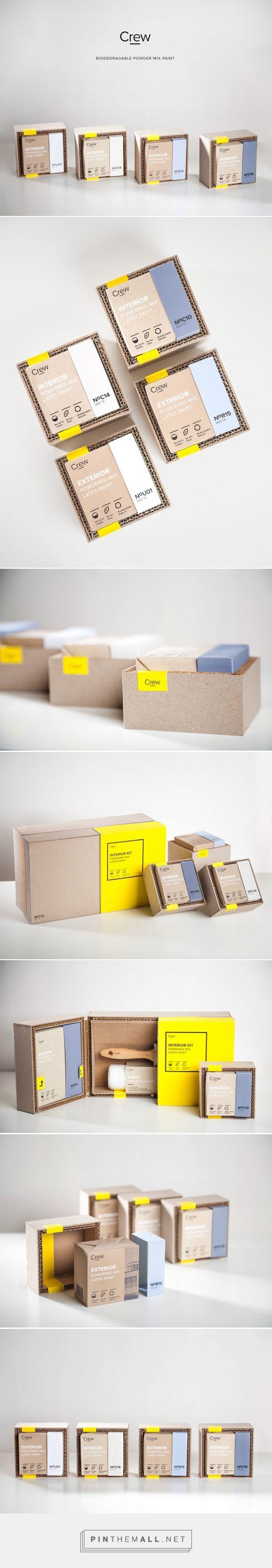 Crew Paint Kit Packaging designed by Alireza Jajarmi - http://www.packagingoftheworld.com/2015/12/crew-paint-kit.html