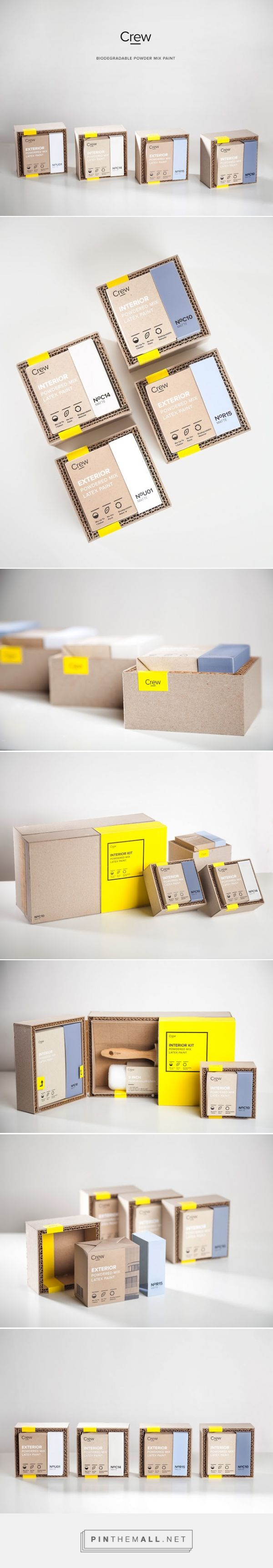 Crew Paint Kit Packaging designed by Alireza Jajarmi - http://www.packagingoftheworld.com/2015/12/crew-paint-kit.html