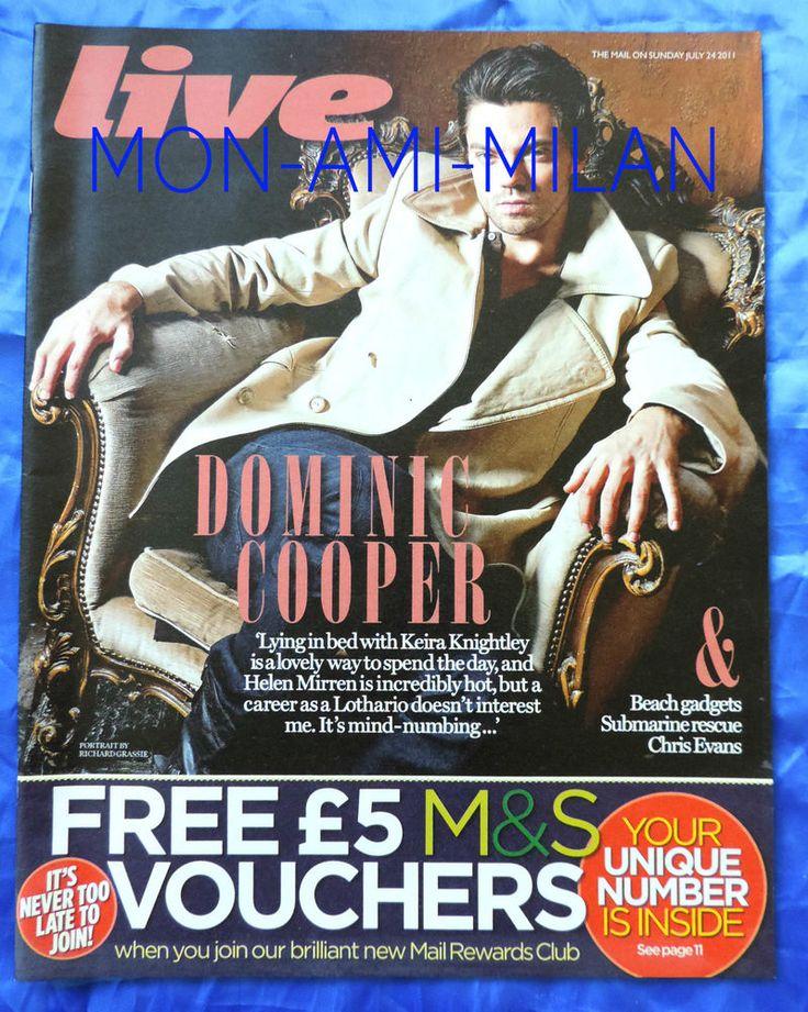 DOMINIC COOPER John Lennon ERIN O'CONNOR - UK Magazine 2011