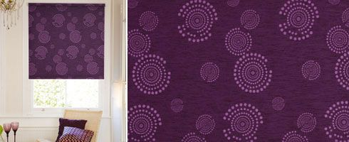 Sunlover Blackout Cosmic Burgundy Roller Blind
