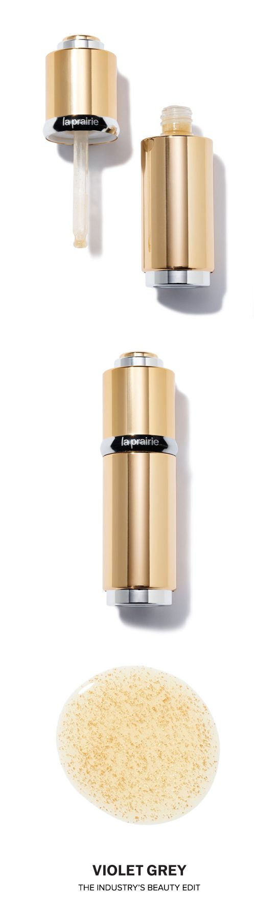 La Prairie Cellular Radiance Concentrate Pure Gold Serum is truly the gold standard of de-aging. This super serum fills fine lines in only one hour & lasts for five, all while giving your face a golden glow - only a single drop required.   #VioletGrey, the Industry's Beauty Edit
