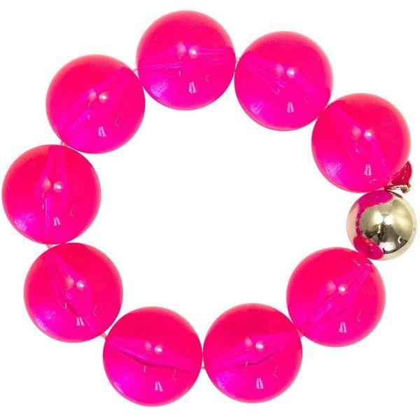 Neon Nights Bracelet Tarina Tarantino ($28) ❤ liked on Polyvore featuring jewelry, bracelets, bead jewellery, neon jewelry, tarina tarantino, neon bangles and beaded bangles