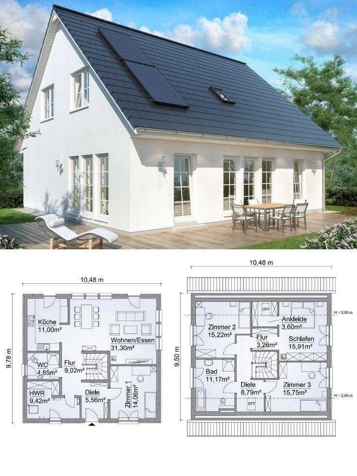 Maison individuelle moderne aménagée en maison de campagne avec toit en selle Architecture …