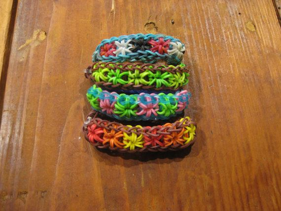 Rainbow Loom / Crazy Loom / Fun loom / handmade Jewelry / Rubberband Bracelets / Starburst Bracelet  https://www.etsy.com/shop/ArtByJiJi?ref=search_shop_redirect