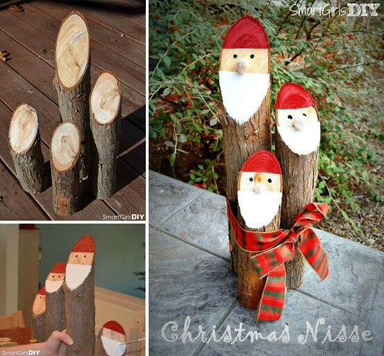 Use your logs to create cute decorations for your home.
