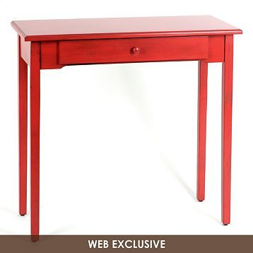 Attractive Distressed Red Console Table