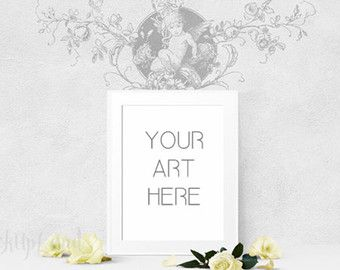Fresh up the look of your store or webpage with new mock up set!  This frame will match any artwork in 4x5 ratio ( 8x10, 16x20 inches ... etc)  The