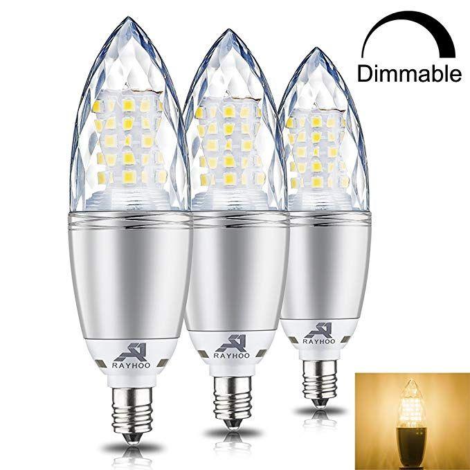 Rayhoo E12 Base Led Light Bulbs Dimmable Candelabra Led Bulbs 10w Incandescent 80 100w Bulb Equivalent Warm White 3000k Led Light Bulbs Led Bulb Light Bulbs