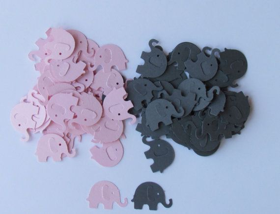 70 best baby shower images on pinterest gray chevron grey elephant confetti diecuts pink and grey 100 count eat for baby showers and baby gumiabroncs Images
