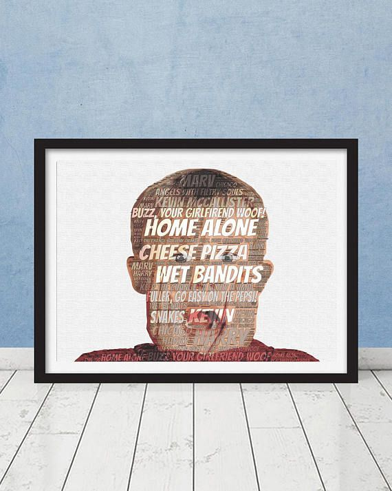 Home Alone Kevin McCallister Word Cloud Typography Custom Art #homealone #gift