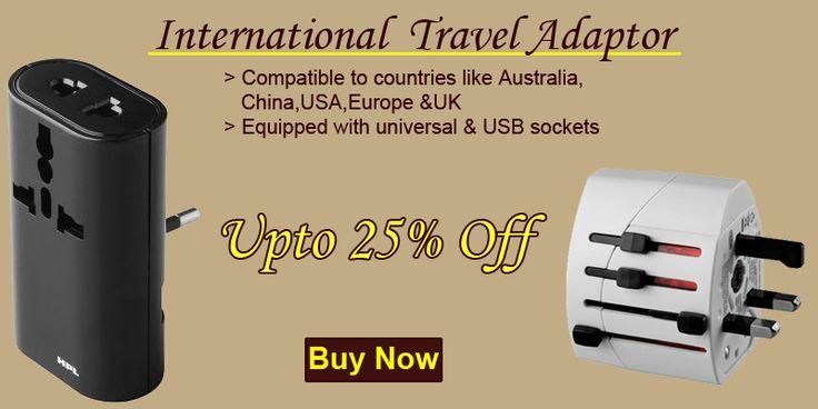 International Travel Adaptor: Now travel without worry. http://tinyurl.com/jhomofk