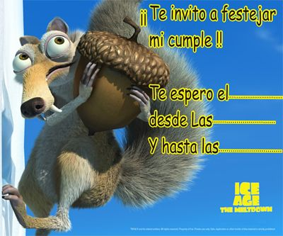 Invitaciones de cumpleaños de la Era del Hielo - http://xn--manualidadesparacumpleaos-voc.com/invitaciones-de-cumpleanos-de-la-era-del-hielo/