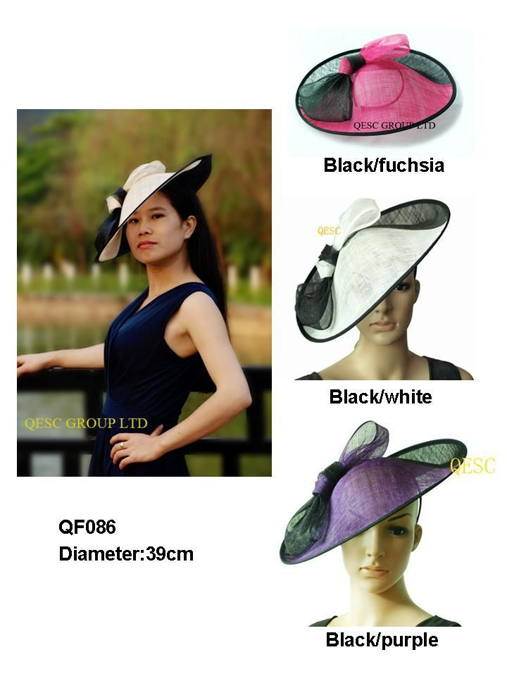 Cheap fascinator bridal, Buy Quality hat summer directly from China fascinator hats for weddings Suppliers: LARGE saucer fascinator,DIAMETER:39CM,with one side up brim1. style no.:QF086 2.Material:sinamay(2 ply) 3.with 1.2cm