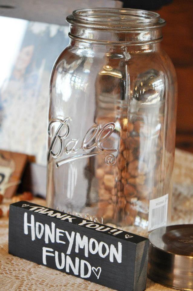 Cute Honeymoon Fund Jar Wedding Card Box And Gift