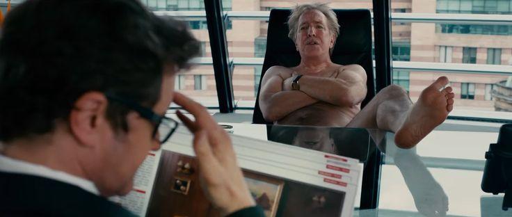 Alan Rickman nude scene in Gambit (2012)