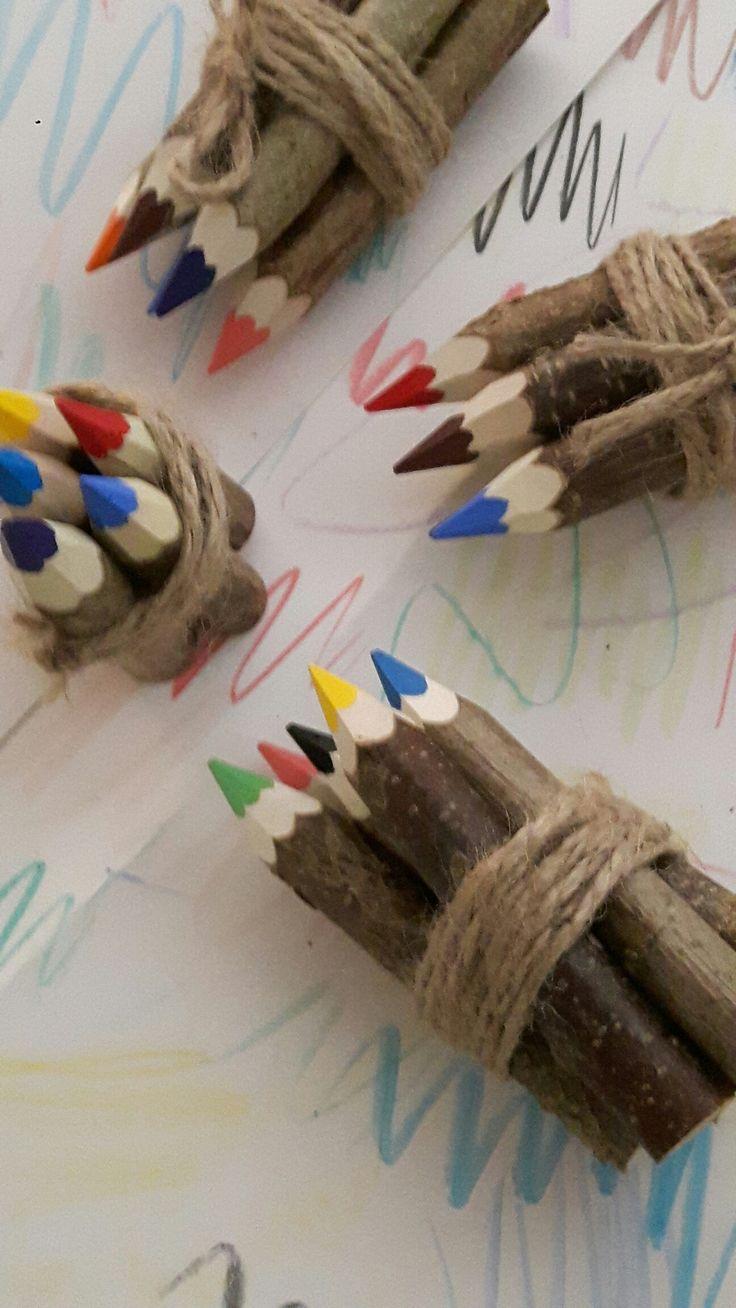 Kolorowe kredki,buntstiften,woodencrayons,dekoracje,