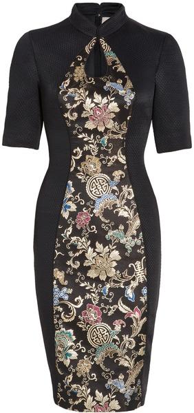 Jason Wu ~ Keyhole Brocade Dress
