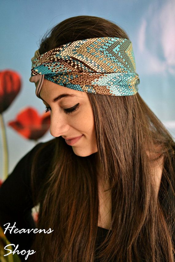 Elastic Stretchy Double Color Turban Geometric by HeavensShop, €13.50