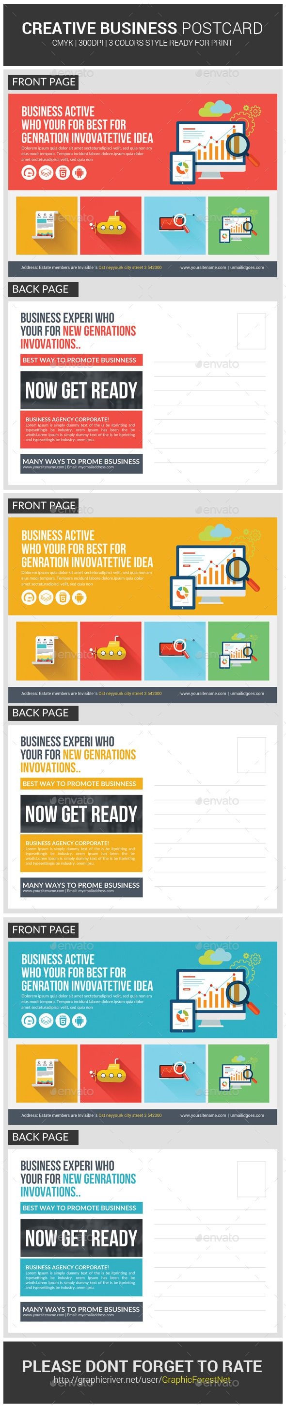 Creative Business Agency Postcard Template