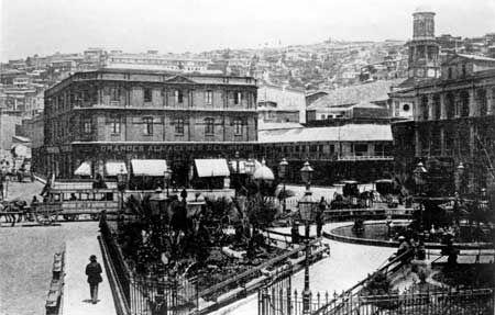 Imágenes de Chile del 1900: Valparaíso Parte 1 Plaza Echaurren en el año 1876