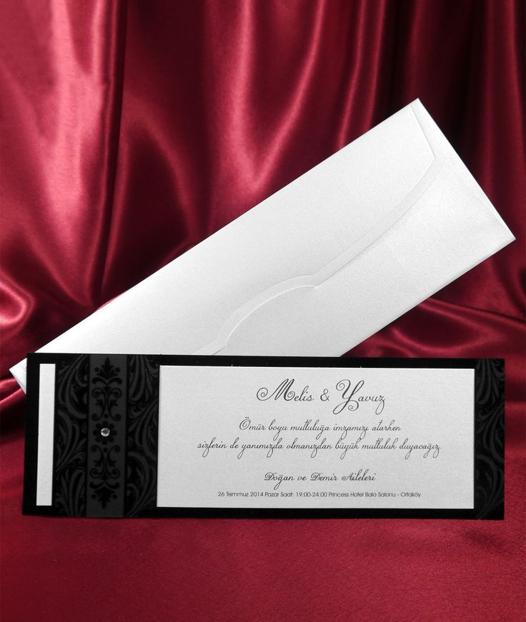 A sleek black colored elegant card holder properly sized to fit the invitation card that comes with it (blank card).