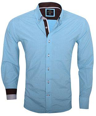 Trendy Arya Boy Italiaans overhemd turquoise bij Italian Style.
