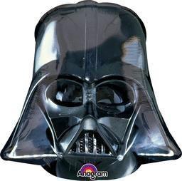 """25"""" Darth Vader Helmet Blk -Non-Pkg foil balloon"""