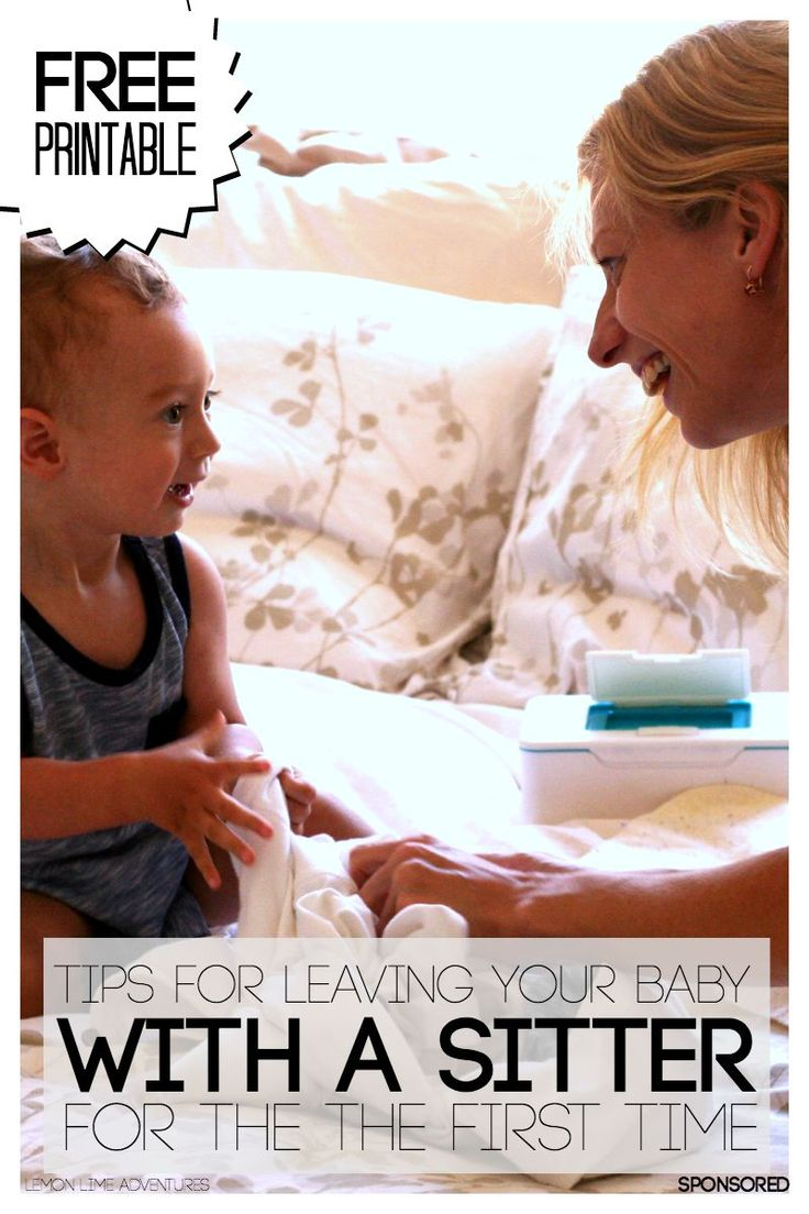 Free Babysitter printable and Tips for Leaving Your Baby for the First Time
