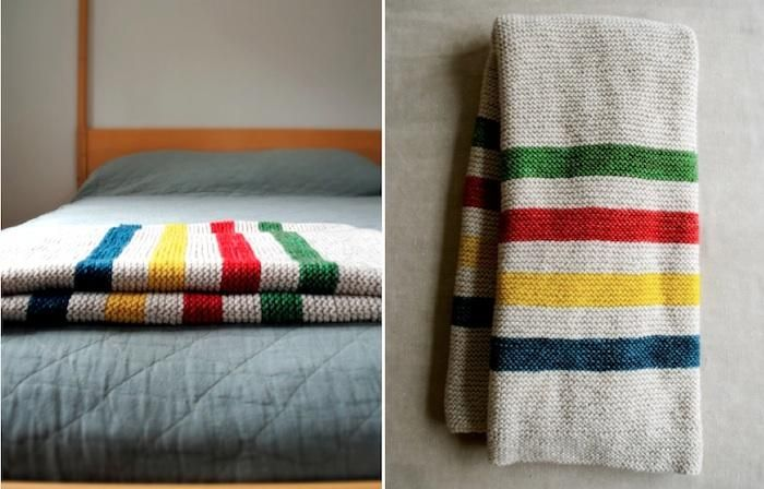 Knitting Pattern For Hudson Bay Blanket : 17 Best images about Knit Blankets on Pinterest Hudson ...