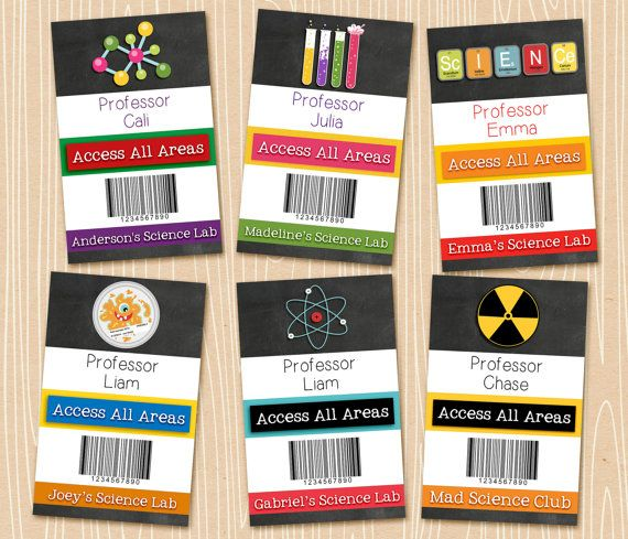 Hey, I found this really awesome Etsy listing at https://www.etsy.com/listing/227465455/personalized-science-party-badges-id
