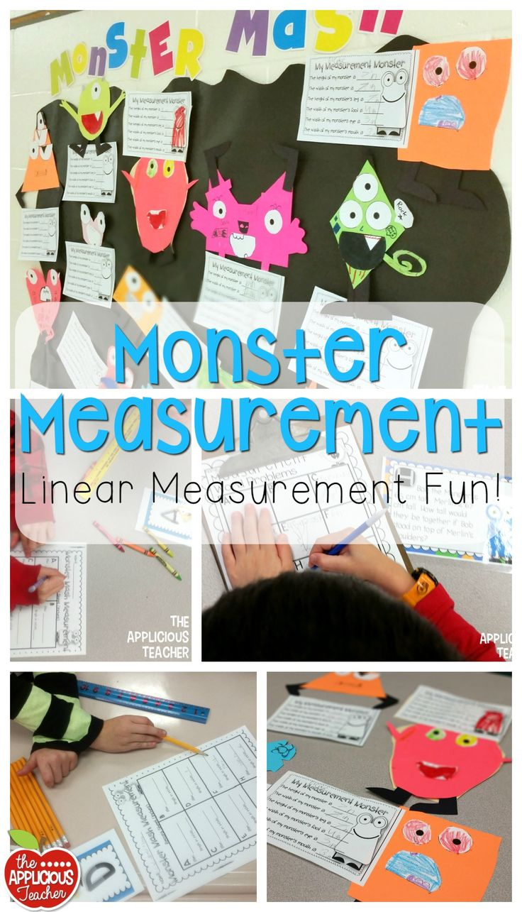 Those monsters! Precious! So many great activities in this hands on linear measurement unit!