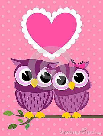 Cute Owl Wallpapers Cute-love-birds-owls-greeting- ...
