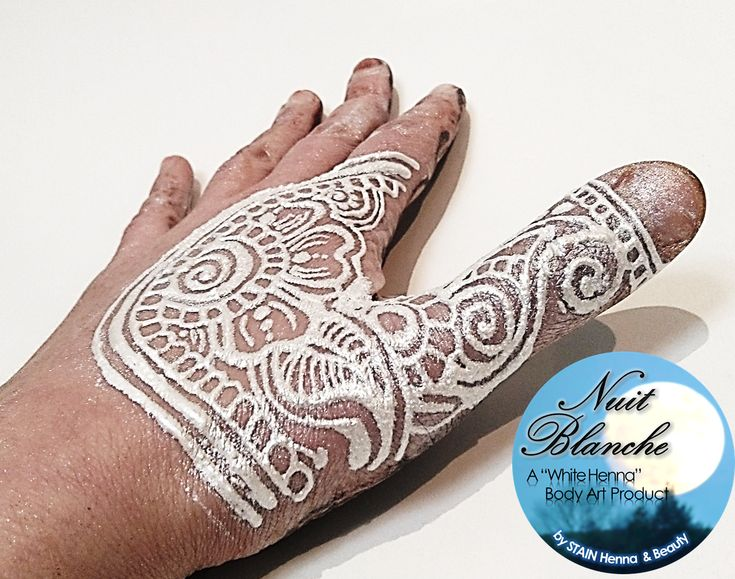 """Nuit Blanche: STAIN Organic Henna & Cosmetics' latest creation. The ALMOST all-natural """"white henna"""" body paint 