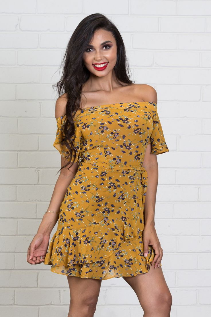 NEW! NEW! NEW! Shop Always Sunny mini dress >>> https://www.urbansport.com.au/home/741-always-sunny-floral-off-the-shoulder-mini-dress.html  #dress #minidress #dresses #floral #yellow #offtheshoulder #ruffle #yellowdress #mustard #cutedress #datenight #datenightoutfit