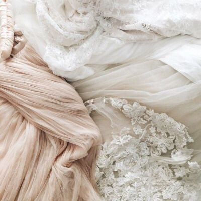 Blush tulle and lace
